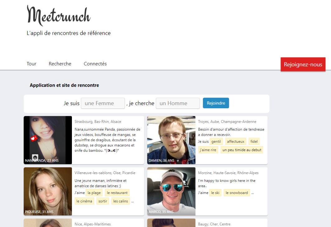 Site de rencontre non payant Meetcrunch